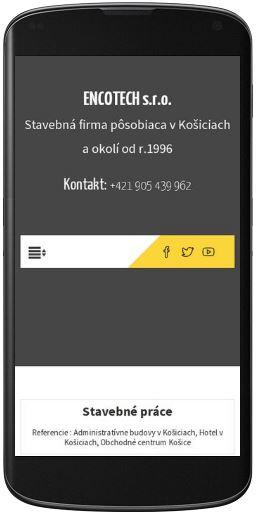 enkotech mobilná verzia